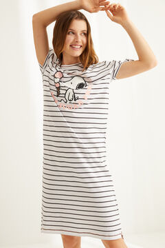 Womensecret Midi Snoopy cotton nightgown grey