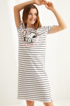 Womensecret Midi Snoopy cotton nightgown grey