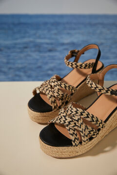 Womensecret Woven wedge sandals  printed