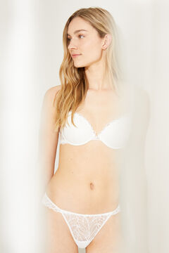 Womensecret GORGEOUS Sujetador push up detalle encaje blanco blanco