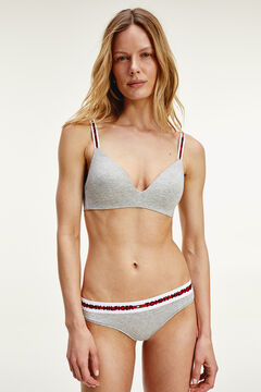 Womensecret Cotton triangle bra grey
