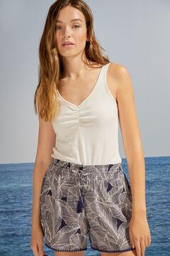 Womensecret Calças curtas azul acessórios branco