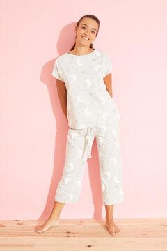 Womensecret Long grey moon cotton pyjamas grey