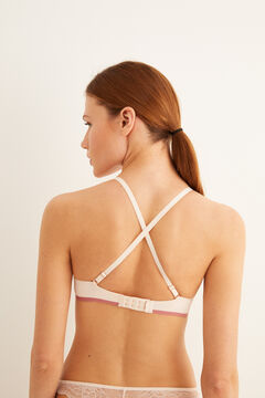 Womensecret Supersoft triangle bra pink