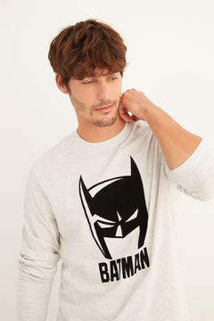 Womensecret Batman mintás, hosszú szürke férfi pizsama szürke