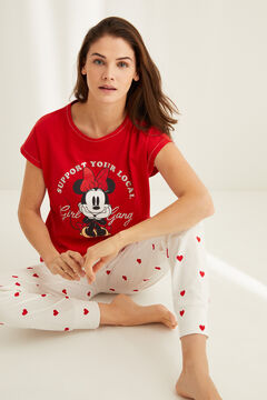 Womensecret Cotton Minnie pyjamas red