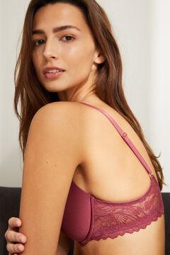 Womensecret BEAUTIFUL Sujetador clásico relleno microfibra y encaje rosa