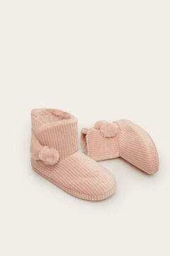 Womensecret Pantoufle type botte rose rose