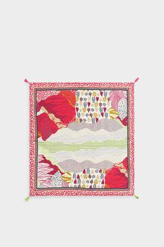 Womensecret Pañuelo cuadrado estampado fabricado con materiales reciclados rosa