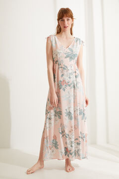Womensecret Long floral wide strap nightgown printed