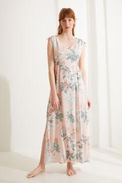 Womensecret Camisa de dormir comprida alças largas flores impressão