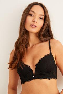 Womensecret Lace padded bra black