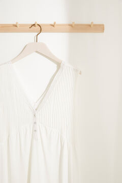 Womensecret Nuisette mi-longue allaitement maille super soft décolleté en V blanc blanc