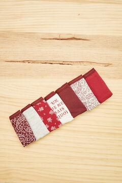 Womensecret 7er-Pack Brazilian Slips Baumwolle Blumen-Print Braun