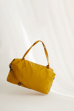 Womensecret Reversible nylon gym bag in mustard and olive green  green