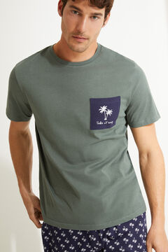 Womensecret Short palm tree pyjamas with short sleeves printed