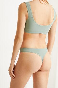 Womensecret String sans coutures vert vert