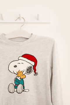Womensecret Winterpyjama Kinder Snoopy Grau