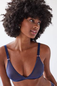 Womensecret NATURAL Blue tulle triangle bra blue