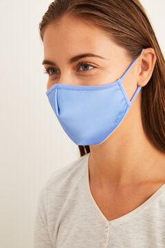 Womensecret Máscara higiénica homologada reutilizável anatómica azul claro azul