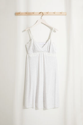 Womensecret Striped maternity nightgown in lace grey