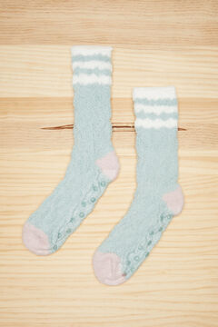 Womensecret Fluffy textured green socks green