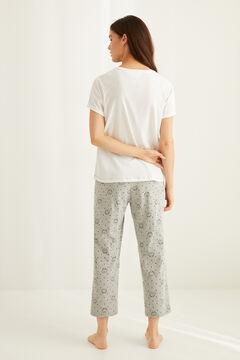 Womensecret Pyjama Capri Garfield blanc
