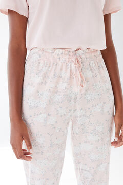 Womensecret Pantalón largo algodón Coordonné rosa rosa