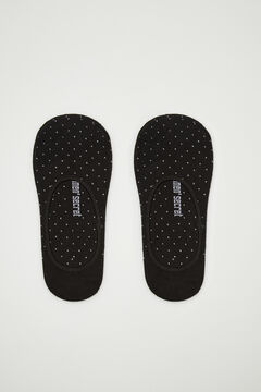 Womensecret Cotton lurex short socks  black