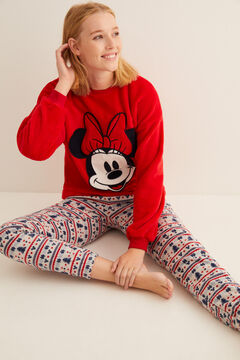 Womensecret Red fleece Minnie pyjamas red
