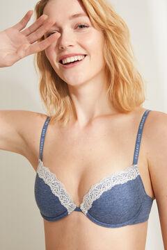 Womensecret BEAUTIFUL Blue padded bra blue