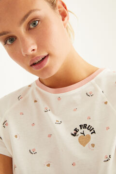 "Womensecret Long ""Le Fruit"" print pyjamas white"