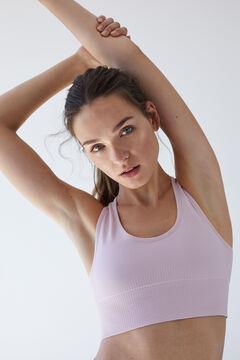 Womensecret lilac reversible seam-free sports top pink