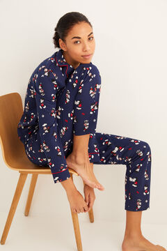 Womensecret Classic cotton Mickey pyjamas blue
