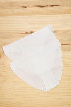 Womensecret Pack 2 bragas clásicas de microfibra blanco