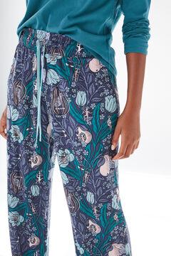 Womensecret Coordonné long blue bottoms blue