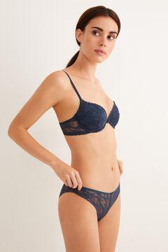 Womensecret Classic lace panty blue