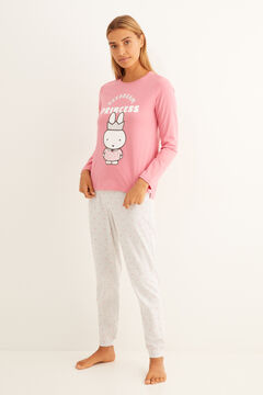 Womensecret Long polka-dot Miffy pyjamas pink