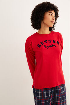 Womensecret Red Better Together long-sleeved top burgundy