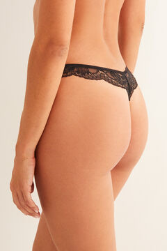 Womensecret Black lace tanga black