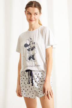 Womensecret Short super soft Minnie Mouse pyjamas in grey grey