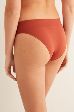 Womensecret Terracotta seam-free classic panty printed