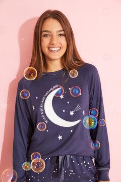 Womensecret Long blue moon pyjamas  blue