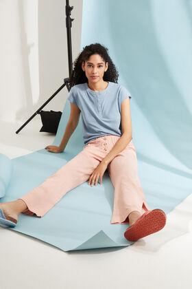 Womensecret Pink cotton long palazzo bottoms pink