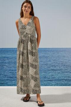 Womensecret Long floral dress printed