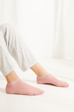 Womensecret Pink cotton short socks pink