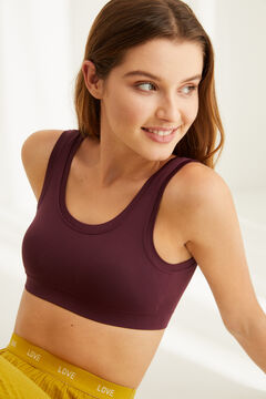Womensecret Maroon seam-free bra top red