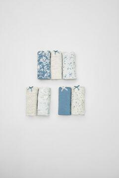 Womensecret Pack 7 cuequinhas orientais algodão  azul