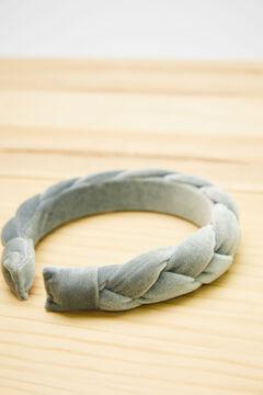 Womensecret Blue velvet braided headband blue