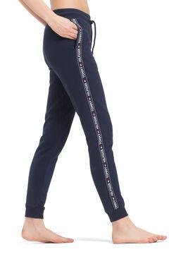 Womensecret Pantalón de algodón orgánico azul